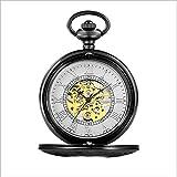 mzq Flip-schnitzen hohlen mechanischen Uhr Taschenuhr Gold