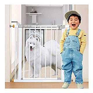 Extending Metal Safety Gate with Automatic Close Door Locked Room Divider Install Anywhere Combinable with Railings for Balcony Stair Kids Pet Dog Gate