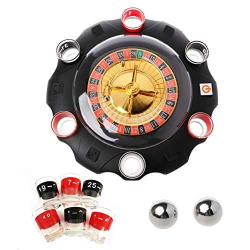 EZIZB Roulette Russe Roulette Casino Table A Roulette Jeu Casino Emballage Cadeau Jeu De Partie Jeu De Basse Électrique Pour Adulte, KTV Bar Accessoires De Boîte De Nuit 27 27 6 cm