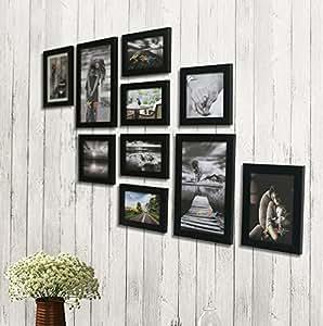 Painting Mantra Photo Frame Set (Black, Set of 10)