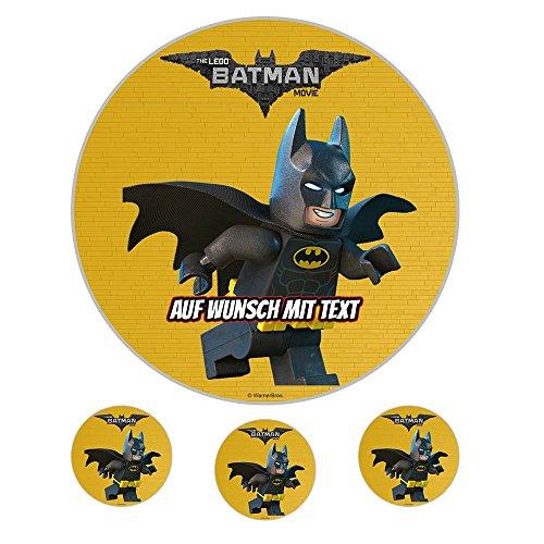 Tortenaufleger Geburtstag Tortenbild Zuckerbild Oblate Motiv: Lego Batman 01 (Oblatenpapier)