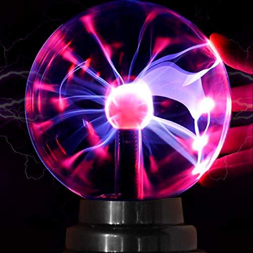 Magische Plasmakugel Plasma Ball Leucht Tragbare Ball Elektrostatische Kugel Berührungsempfindliche Blitzkugel, Blinkende Pädagogisches Spielzeug Blitzlicht Plasmalampe - USB oder batteriebetrieben