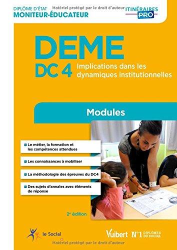 DEME (Diplôme d'État de Moniteur éducateur) - DC 4 Implication dans les dynamiques institutionnelles par Michel Billet