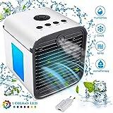 Miaogo Air Mini Cooler 3 in 1 Portable Luftbefeuchter und Luftreiniger, Klima Ventilator, Leakproof, New Filter Paper (2 Generation-Upgrade Adapter) (Weiß)