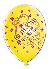Idea Regalo - BWS- Palloncini con Stampa per Una Donna Speciale, 30 Cm, Colore Giallo e Fucsia, RR12PS15_RSP352