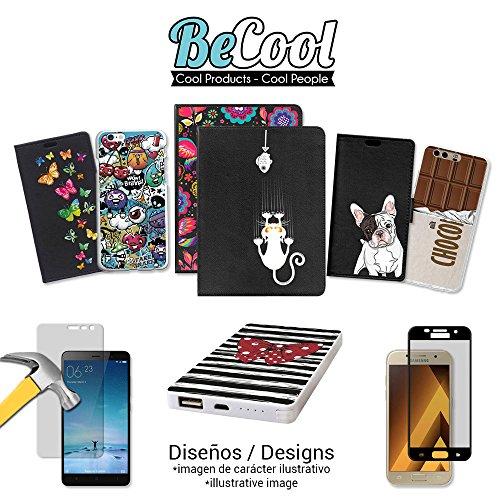 BeCool®- Coque Etui Housse en GEL Flex Silicone TPU Iphone 8, Carcasse TPU fabriquée avec la meilleure Silicone, protège et s'adapte a la perfection a ton Smartphone et avec notre design exclusif. Art L1665