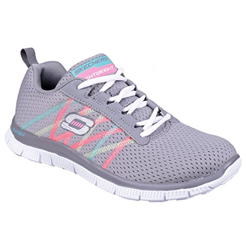 SkechersFlex Appeal Something Fun - Sneaker Donna Multicolore (Bleu marine/Multicolore)