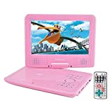 Best Portable Dvd Players For Children - FENGJIDA 9 inch Portable DVD Player Pink Birthday Review