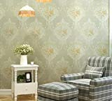 Longless Papier peint, tissu, vert, 3D, papier peint, salle de séjour, chambre à coucher, télévision, toile, pastorale, 10*0.53M