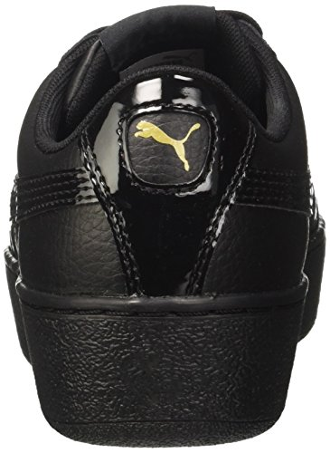 Puma Vikky Platform Lthr P, Scarpe da Ginnastica Basse Donna Nero (Black-metallic Gold)