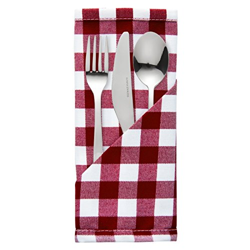 palmar-gingham-red-white-napkin-polyester-dimensions-406-x-406mm-16-x-16-pack-quantity-10