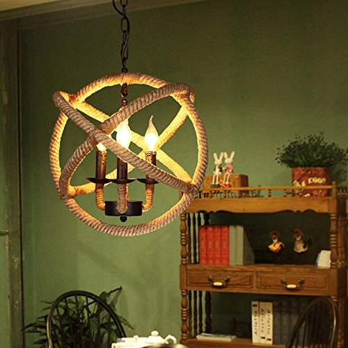 Imported and new Vintage Chandelier for Home and Cafe Industrial Rope Chandelier Light