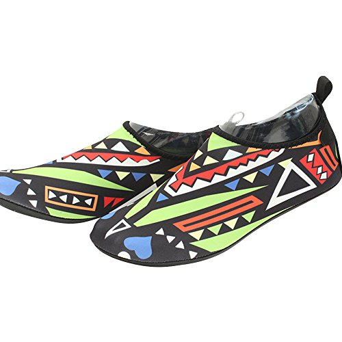 Eastlion Breathable Sportschuhe Geometrische Muster Schwimmen Strand Schuhe Barefoot weiche bequeme Schuhe Jogging Gr眉n