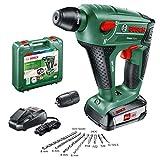 Bosch UneoMaxx - Martillo perforador a batería (2 baterías 18V, cargador, adaptador...