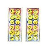 TOYMYTOY 24Pcs Plastikstempel Emoji Stempel hergestellt von TOYMYTOY