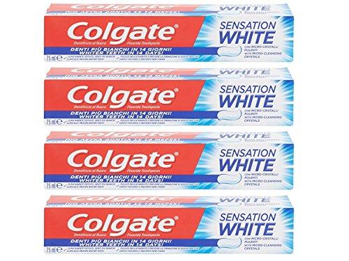 colgate dentifricio sensation whitening - 4 pezzi da 75 ml