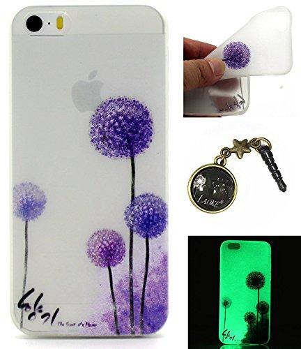 TPU Leuchtende Nacht Silikon Schutzhülle Handyhülle Painted pc case cover hülle Handy-Fall-Haut Shell Abdeckungen für Smartphone Apple iPhone 5 5S SE +Staubstecker (8) 15