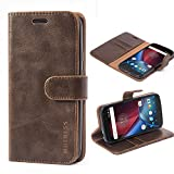 Mulbess Motorola Moto G4 Play Case Wallet, Leather Flip
