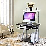 TH Tabella del computer portatile dell'insediamento dello scrittorio del desktop computer con il comodino della puleggia (Colore : Black)