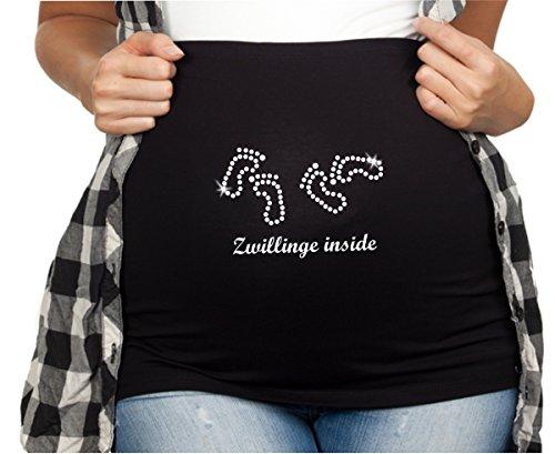 Bauchband Lele mit Spruch Zwillinge inside