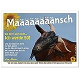 Einladung zum Geburtstag mit Ziege - für jedes Alter möglich, lustig witzig mit Wunschtext, 30 Stück - 17 x 12 cm