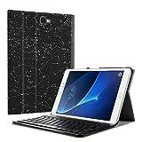 Fintie Bluetooth Tastatur Hülle für Samsung Galaxy Tab A 10,1 Zoll T580N / T585N Tablet - Ultradünn leicht Schutzhülle mit magnetisch Abnehmbarer Drahtloser Deutscher Bluetooth Tastatur, Sternbild