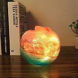 Lámpara Creativa Simple Moderna Lámpara de Cristal de Himalaya Lámpara de la Sala de estar Lámpara de la Noche Luz de La Noche Atmósfera de Cumpleaños Regalo de Boda 12X12X14 cm Luz de la noche