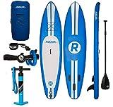 Aufblasbares Paddleboard iRocker 335x76x15cm SUP-Paket - 2 JAHRE GARANTIE (Blau)
