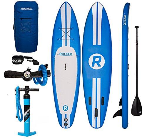 Aufblasbares Paddleboard iRocker 335x76x15cm SUP-Paket (blau)
