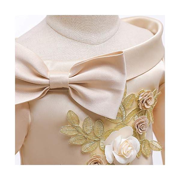 Vectry Navidad Vestido De Niñas Princesa Vestido Floral Niñas Princesa Dama De Honor Desfile Vestido Fiesta De… 3