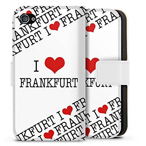 Apple iPhone X Silikon Hülle Case Schutzhülle Frankfurt Hessen Statements Sideflip Tasche weiß