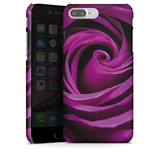 Apple iPhone X Silikon Hülle Case Schutzhülle Lila Rose Blüte Premium Case glänzend