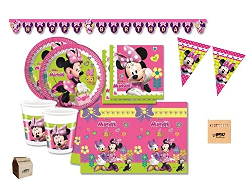 IRPot - KIT N 17 COMPLEANNO PARTY 40 PERSONE MINNIE BOUQUET - 40 Festa Di Compleanno