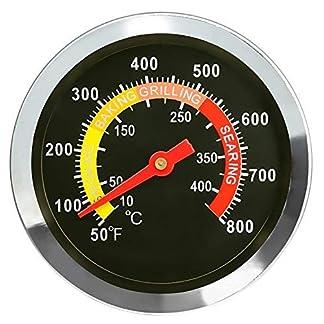 GFTIME 01t08 6 cm exterior barbacoa, parrilla, ahumador acero inoxidable Termómetro Medidor de temperatura termómetro de horno parrilla, ahumador