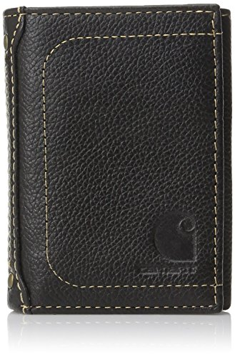 Carhartt Pebble Trifold Wallet, 61-2200.BLK, schwarz, 61-2200 (Grain Black Pebble)