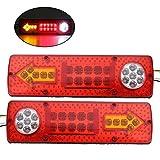 WINOMO Luci posteriori LED auto 12V Fanali direzione e freno per rimorchio 2PCS