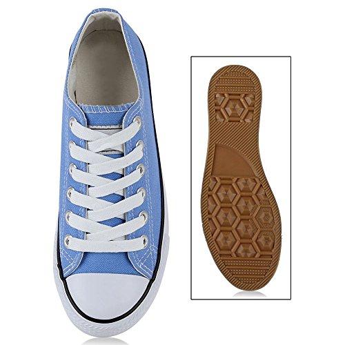 Damen Sneakers Sportschuhe Stoffschuhe Sportliche Schuhe Gr. 36-41 Hellblau