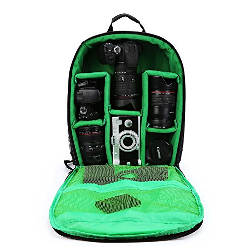 Maxmer Kamerarucksack FotorucksackKameratasche Wasserdichte Multifunktionale SLR RucksackfürCanon, Nikon, Sony, Olympus, Pentax und anderen DSLRs mit Regenschutzhülle (M/L) - Speicherkarten Pentax