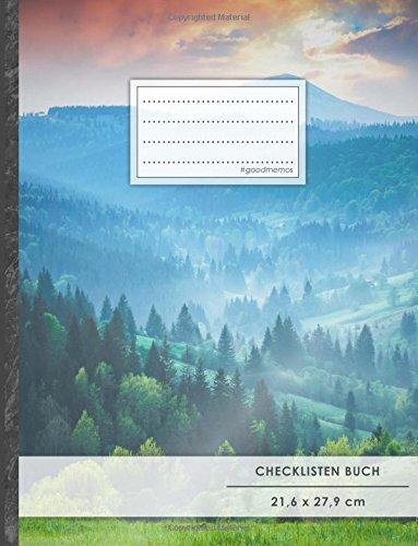 """Checklisten-Buch: DIN A4 • 70+ Seiten, Softcover, Register, \""""Bergsteiger\"""" • #GoodMemos • 18 Checkboxen + Platz für Notizen/Seite (inkl. Register mit Datum uvm.)"""