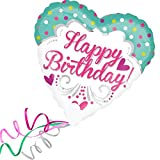 Folienballon HAPPY BIRTHDAY HERZ XXL 45cm, mit Helium gefüllter Luftballon zum Geburtstag + PORTOFREI + Geschenkkarte. High Quality Premium Ballons vom Luftballonprofi & deutschen Heliumballon Experten. Luftballon Geschenke zum Geburtstag und lustige Deko Geburtstag