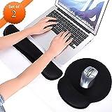 Mausunterlage,Meiso Mauspad-Set Handgelenkauflage Tastatur und Mousepad Ergonomisch Mauspad mit Gelkissen Mauspad Handauflage Tastatur für Laptop Computer