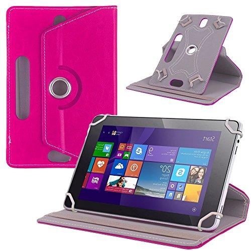 NAUC Tasche Hülle für ODYS Ieos Quad 10 Pro Schutzhülle Tablet Cover Case Bag Etui, Modellauswahl:Pink 360° mit Univ. Kameraausschnitt