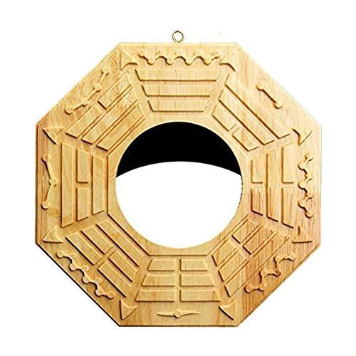 Anivia - Specchio Bagua protettivo tradizionale cinese, decorazione Feng Shui contro le energie negative (specchio convesso/specchio concavo), Legno, A, Concave