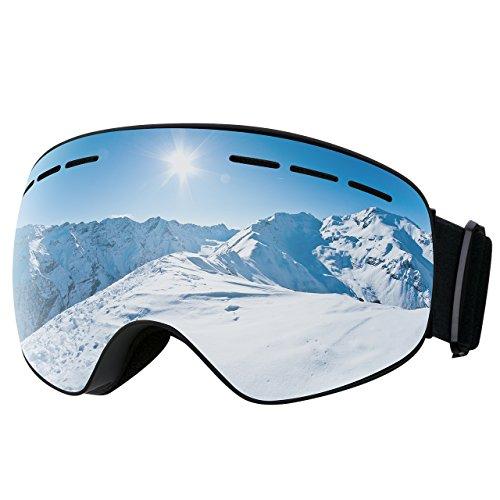 Mpow Skibrille Snowboard Brille Doppel-Objektiv UV-Schutz Anti-Fog Skibrille Für Damen Und Herren Jungen Und Mädchen.