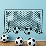 Finloveg Junge Wandtattoo Fußball Fußball Tor Net Vinyl Aufkleber Für Kinderzimmer Dekoration Sport Schlafzimmer Dekor Kindergarten Kunst Poster 40X60 Cm