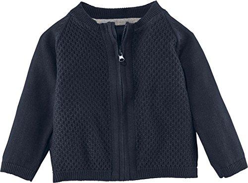 LUPILU® Baby Jungen Strickjacke aus 100% Bio-Baumwolle mit Reißverschluss (navy, Gr. 62/68) Kleinkind-blau Strickjacke