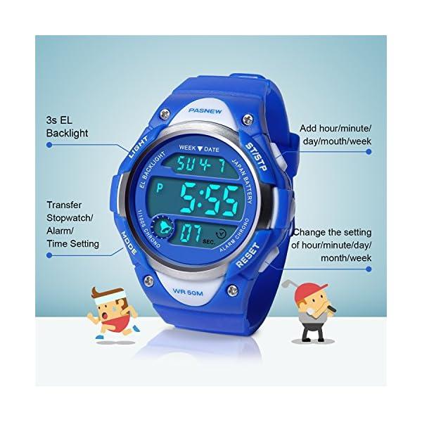 8486b2e29685 Hiwatch Relojes Deportivos Impermeable para los Ni os Ni as Reloj de Pulsera  Digital a Prueba de Agua