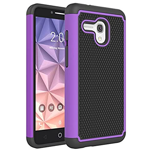 Alcatel OneTouch Fierce XL Case, FIREF1SH [Exact-Fit] 2 in 1 Combo Full Body Protection Cover Impact Resistant Hybrid Silicone with Hard PC Skin for Alcatel OneTouch Fierce XL (2015)
