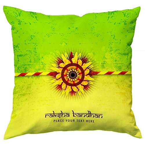 FOA Rakhi gift for brother and sister. Cushion cover with filler combo. Rakshabandhan gift.  available at amazon for Rs.245