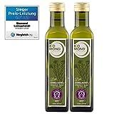 BIO Leinsamenöl Leinöl BIOMOND / 2 Flaschen je 250 ml / Vorteilspack / kalt gepresst / TESTSIEGER